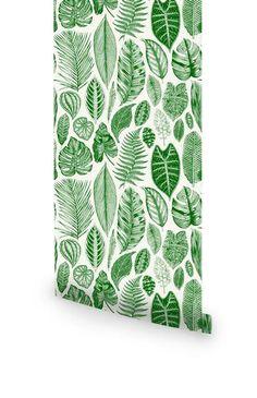 Botanical regular and removable wallpapers - Livettes