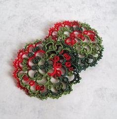 Christmas Coasters in Tatting by Tatania Rosa