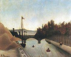 Henri Rousseau - La passerelle de Passy (1904)