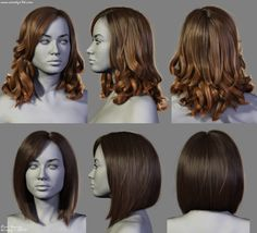 4 New Hairstyles (1) by Woodys3d on DeviantArt
