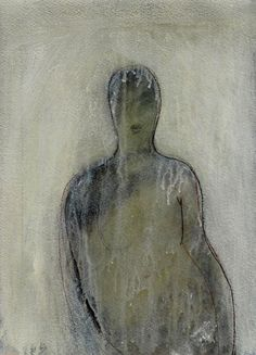'Figure 298' by French artist Jean Boccacino. Acrylic on paper, 24 x 30 cm. via the artist on tumblr