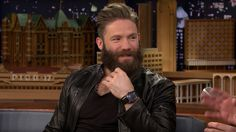 HODINKEE: Watch Spotting New England Patriots Wide Receiver (And Super Bowl Champion) Julian Edelman Wearing An Omega Speedmaster Dark Side Of The Moon 'Black Black' On The Jimmy Fallon Show