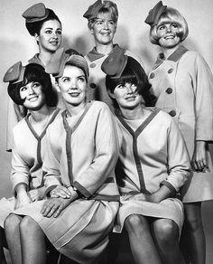 PSA flight attendants #anekdotique #vintage #airhostess #stewardess #goldenage #airline #fashion #style