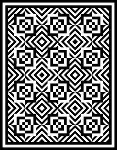 black and white quilts | ... stay true black and white or go with shades or patterned black
