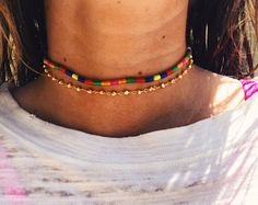 Rainbow and Rosary Chokers