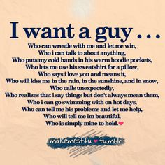 half perfect boyfriend list, not me but might be others.