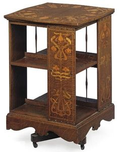 Art Nouveau revolving library table/book holder