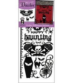 Hot off the Press Dazzles Stickers--Gothic Halloween Black