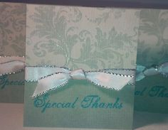Set of 5 Special Thank You Mini Card Set by NyraCards on Etsy, $3.50