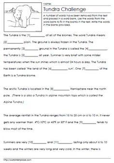 Match The Numbers Worksheet Pdf Plants Cloze Worksheet  Gardening Learning  Pinterest  Dbt Worksheet with Singular And Plural Possessive Nouns Worksheets Pdf Tundra Cloze Worksheet Basic Math Facts Worksheet Excel
