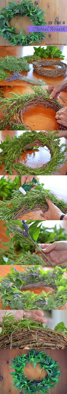 An herbal wreath is such a nice way to bring nature-inspired decor into your home and, if you have an herb garden, it could be an extremely frugal craft project. Here's all the instructions to make your own to brighten up your home with this lovely smelling wreath!