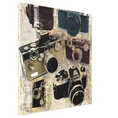 Zazzle - Via - www.AmericasMall.com/zazzle-gifts User Created Personalized Gifts #Gifts #Personalizedgifts Vintage fashion Grunge Retro Camera Stretched Canvas Print http://www.zazzle.com/vintage_fashion_grunge_retro_camera_canvas-192468772246464579?rf=238756979555966366&tc=PinLA  >>> Vintage Grunge Retro Cameras Fashion products and home décor products for photographer , Photography business and camera lovers