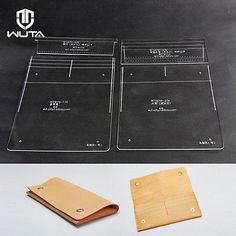 Wuta Leather Long Wallet Template Clear Acrylic Leather Pattern Craft Tool 879