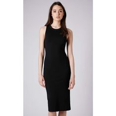 TOPSHOP Midi Dress Black midi dress as pictured. Worn only once. Size US 4. Fits like an XS or S. Topshop Dresses Midi