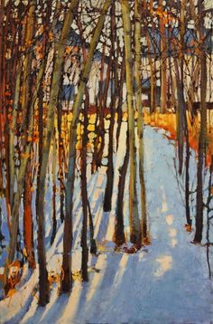 Leighton Centre by Linda Wilder Acrylic ~ 36 x 24 Paintings I Love, Beautiful Paintings, Landscape Art, Landscape Paintings, Wow Art, Tree Art, Painting Inspiration, Amazing Art, Contemporary Art