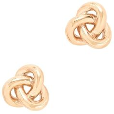J.Crew Golden knot earrings ($35) ❤ liked on Polyvore