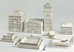 palace stacking tableware set by Seletti & Selab + Alessandro Zambelli