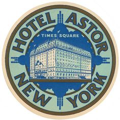 USA - NYC - New York - Hotel Astor New York