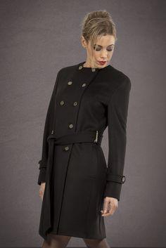 Manteau court femme sans col