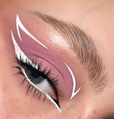 Edgy Makeup, Makeup Eye Looks, Eye Makeup Art, No Eyeliner Makeup, Crazy Makeup, Fire Makeup, Eyeliner Ideas, Eye Makeup Designs, Creative Makeup Looks