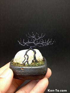 Hematite deciduous ROR wire bonsai tree by Ken To by KenToArt.deviantart.com on @deviantART