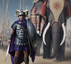 Pyrrhus was a second cousin of Alexander the Great who made a name for himself as an enemy of Carthage and early Rome. Ancient Rome, Ancient Greece, Ancient Art, Ancient History, Imperial Legion, Greek Warrior, Fantasy Warrior, Early Middle Ages, Alexander The Great