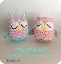 how to make an amigurumi owl Knitted Owl, Crochet Birds, Crochet Animals, Diy Crochet, Crochet Baby, Crochet Bikini, Crochet Bookmarks, Crochet Patterns Amigurumi, Crochet Projects