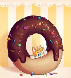 Donut by on DeviantArt Sonic The Hedgehog, Hedgehog Game, Classic Sonic, Fox Pictures, Adventure Time Finn, Happy Tree Friends, Sonic Art, Video Game Characters, Cute Gif