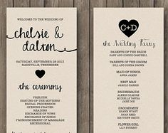 Wedding Program Ideas To Go For | 21st - Bridal World - Wedding Ideas and Trends