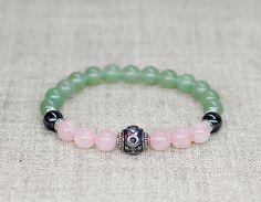 Rose quartz bracelet Zodiac jewelry Taurus bracelet Birthstone
