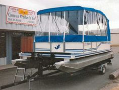 Pontoon Boat Enclosures | Boat Covers including Pontoon Enclosures, Bimini Tops  Storage Boat ...