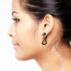 These are awesome! I want! Fake Gauge Earrings  Horn Tribal Earrings  Dragon by NoHolesBarred