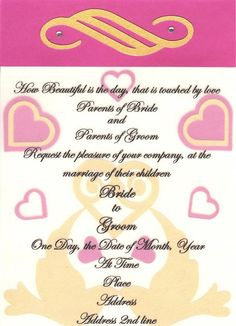 WEDDING INVITE IN PINK, GOLD AND WHITE