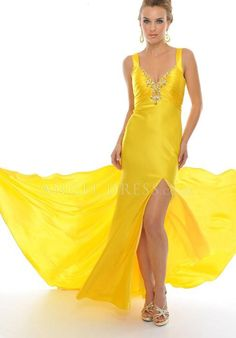 Straps A line Elastic Silk Like Satin Zipper up Sleeveless Floor Length Prom Gowns