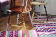 Köksstol med färgdopp