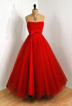 Ravishing Red 1950's Dress
