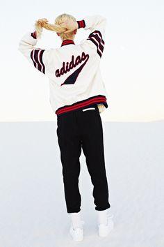 Adidas Bomber Jacket, Revolt Crop Turtleneck, Trimmed Tux Pant