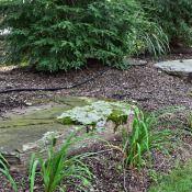 "Techo-Block Blu-Champlain Gray Kearney Stone – Step Bench Used Belgium Block 3/8"" Pea Gravel PA Fieldstone – Wall and Boulders Full Color Bluestone Stepping Stones"