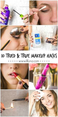Tried and True Makeup Hacks  10 Tried & True Makeup Hacks that every girl should know. You'll wish you knew these, like.. Yesterday. See it on  lilluna.com !  http://www.beautyfashionfragrance.us/2017/06/16/tried-and-true-makeup-hacks/