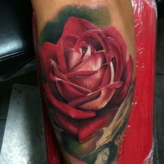 Here's a rose I did not too long ago. Thanks for looking guys! Also  I still have some days available in March for some sweet tattoos! Email me at johnbarrett863@gmail.com and we'll go over all of the details! Thanks! #teambarrett #searchlighttattoo @keithbmachineworks #keithbmachineworks #afterinked #stencilstuff #rose #rosetattoo by yogi_barrett