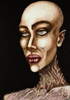Female Portrait, Woman Portrait, Original Paintings, Original Art, Abstract Portrait, Painting Abstract, Pastel Portraits, Painting Process, Woman Painting
