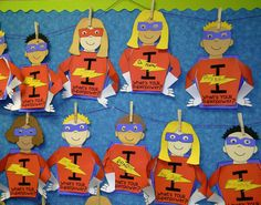 I Learn! What's Your Superpower?  Superhero themed writing craft with pages for back to school goal setting and end of year reflections.
