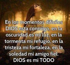 Dios es mi todo, cuando le das tu todo El te abraza completamente Eres suyo Su todo es mayor que El Tuyo no existe fallo alguno, estas bajo Su total covertura Amen