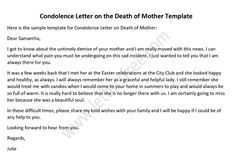 Condolence Letter Loss Of Mother from i.pinimg.com