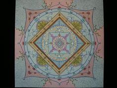 """Mandala """"Hiver"""", peinture à l'aquarelle : Peintures par atelier-des-hiboux"""