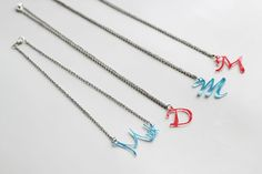 How To Make Your Very Own Name Necklace using shrinky dink plastic.