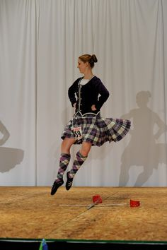 Sarah McKee from Kansas City doing the Swords. I believe this is at USIR. #scottish #highland #dance