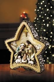 This Nativity figurine is a beautiful and inspiring additions to any family's Christmas collection. The Crafted piece comes in an elegant Avalon Gallery™ signature gift box - great for giving or for storage after the season ends! Nativity Star, Nativity Ornaments, Christmas Nativity Scene, Nativity Crafts, Nativity Scenes, Felt Ornaments, Elegant Christmas Decor, Beautiful Christmas, Christmas Decorations