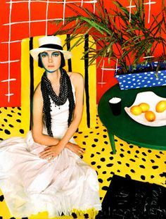 Vogue Italia 2006 Matisse inspired by Michael Thompson. Set design by Tom Bell.