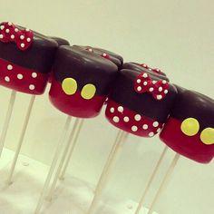 Bombones con chocolate de Minnie y Mickey